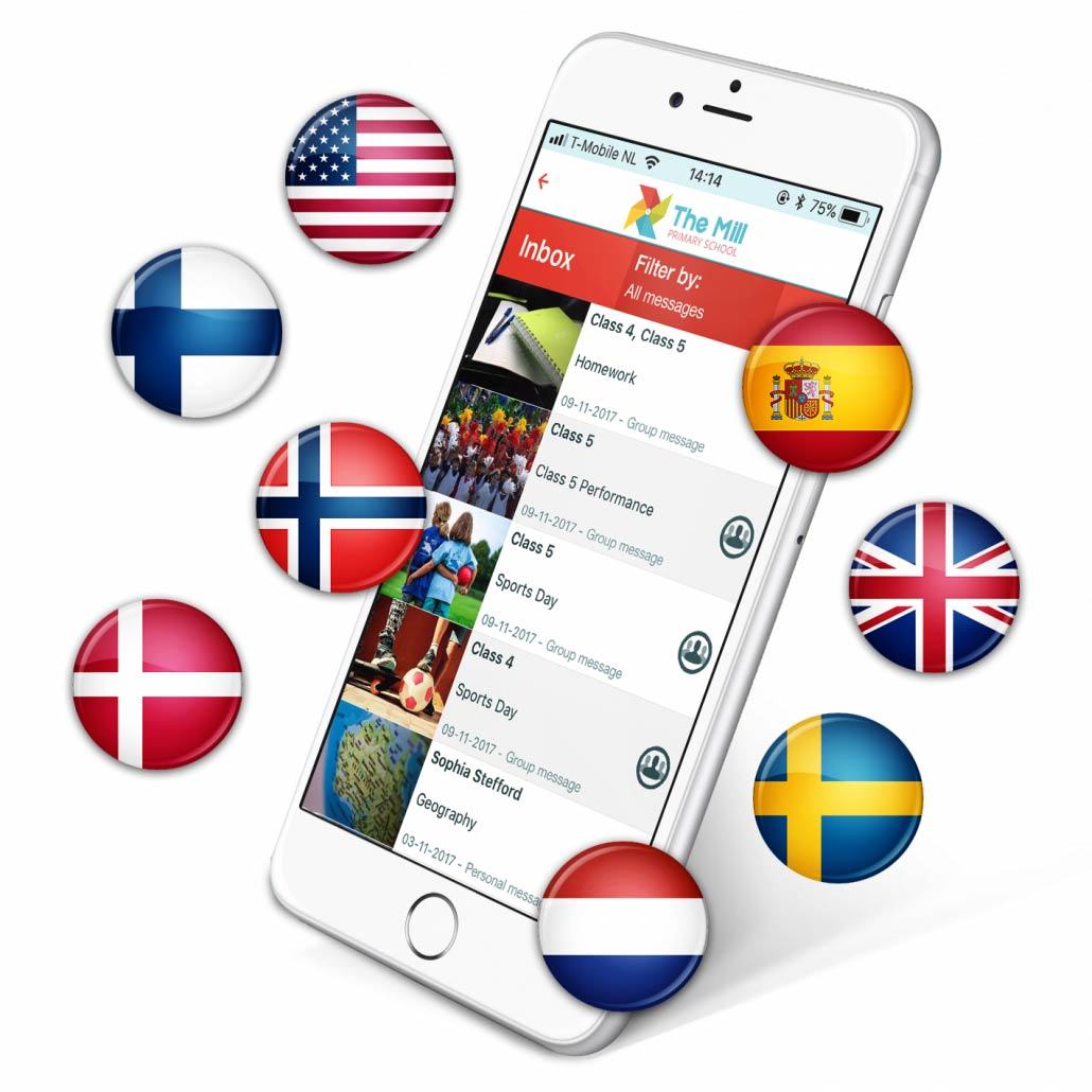 Supported languages School Apps