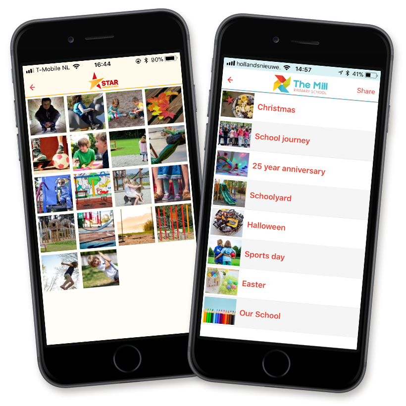 Share school photos easily with your own school app
