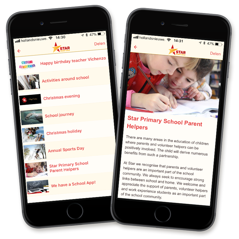 Share school news with ease