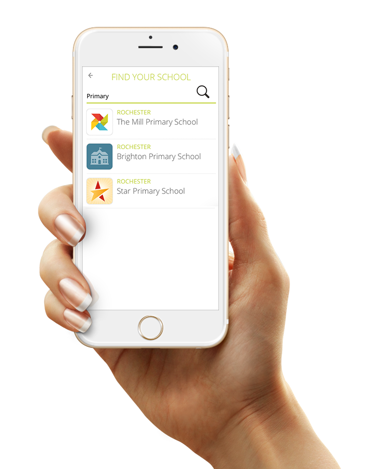 Districts can have their own branded app container in which a unlimited number of schools can present themselves
